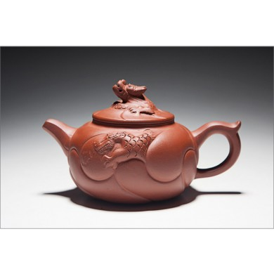 Fish Dragon Zisha Teapot