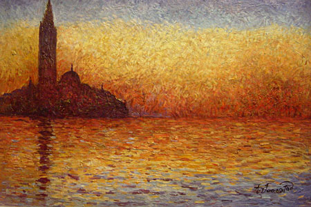 monet at dusk san giorgio maggiore manufacturers monet. Black Bedroom Furniture Sets. Home Design Ideas