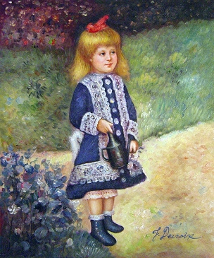 Theme Renoir girl with flowers