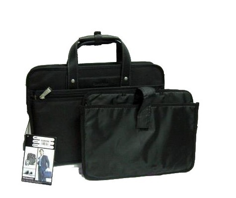 Black designer laptop bag