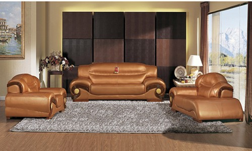 Beau Modern Furniture Design Genuine Leather Sofa 913