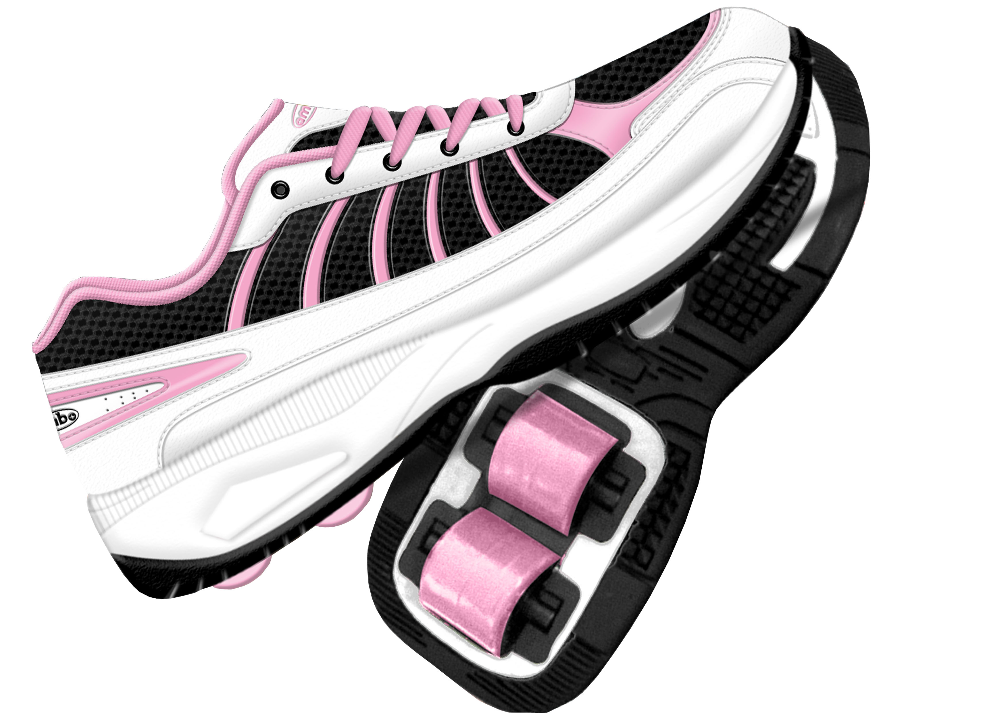 Piping Hot Roller Shoes Size 1 - Black / Pink | Target Australia
