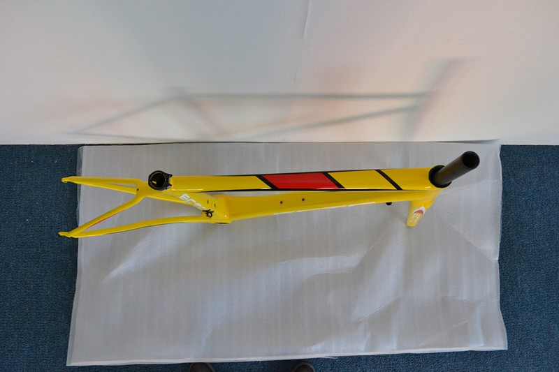 ECTC-EFR04 limited Yellow carbon bicycle frame