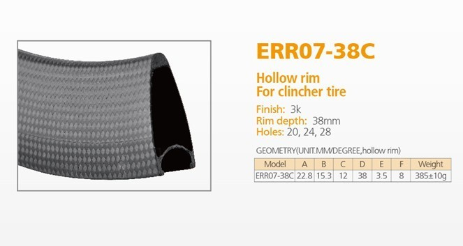 ECTC-ERR07-38Clincher Carbon Rim