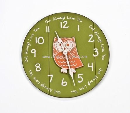 Quote Wall Clock with Owl