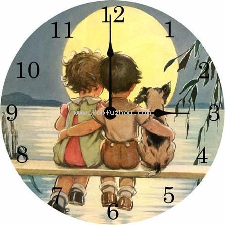 Sittin' on the Dock Vintage Wall Clock