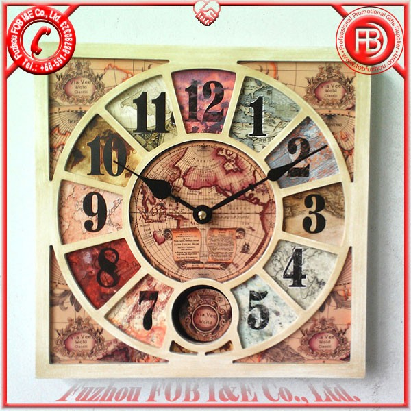 Antique Wooden Clock/Wood Clock WAP1205001