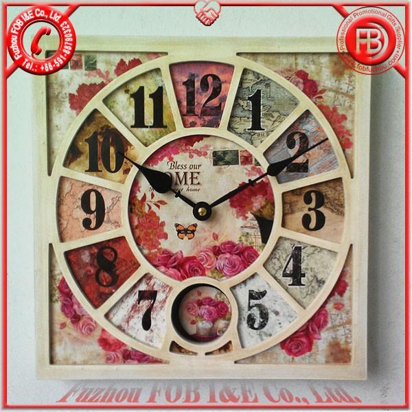 Antique Wooden Clock/Wood Clock WAP1205004