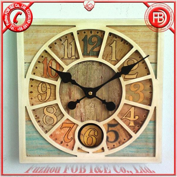 Antique Wooden Clock/Wood Clock WAP1205006