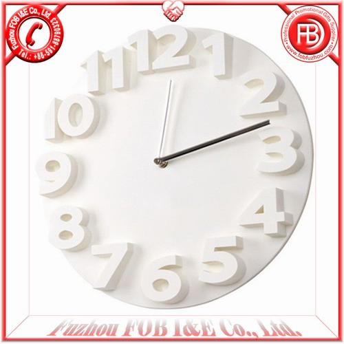 Raised Number Wall Clock WP20257W