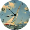 Sailing Race Wall Clock by Vintage Artwork