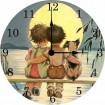 Sittin' on the Dock Vintage Wall Clock