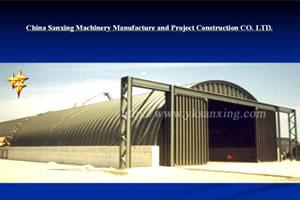 SX-914-610 No-girder K-span Arch Sheet Roll Forming Machine
