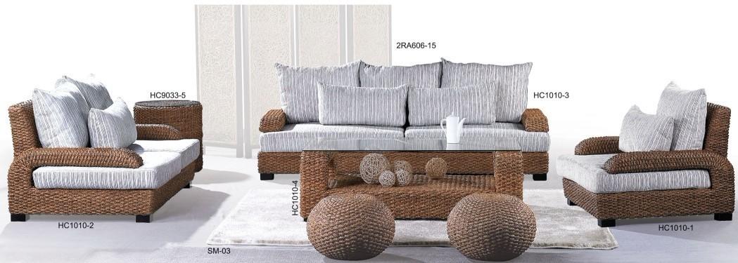 attractive modern rattan sofa