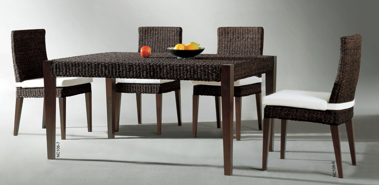Modern Rattan Dining Set Low Price Manufacturers Modern