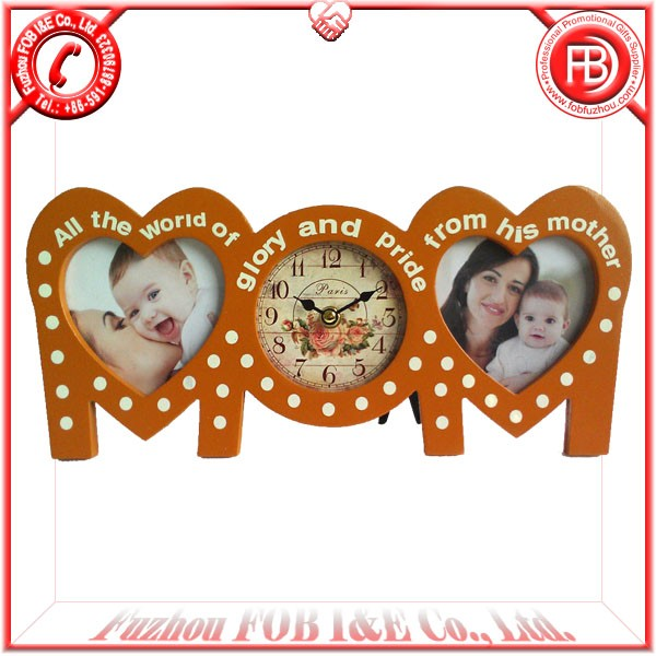 Mum Table Clock with Photo Frame