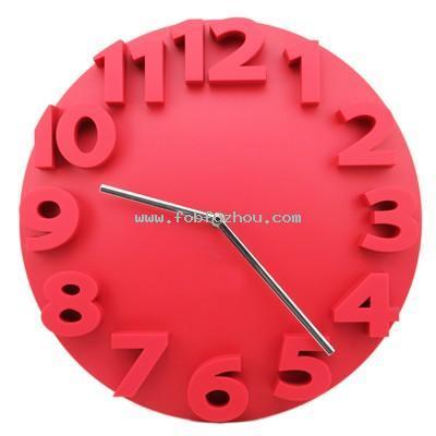 3D Plastic Wall Clock