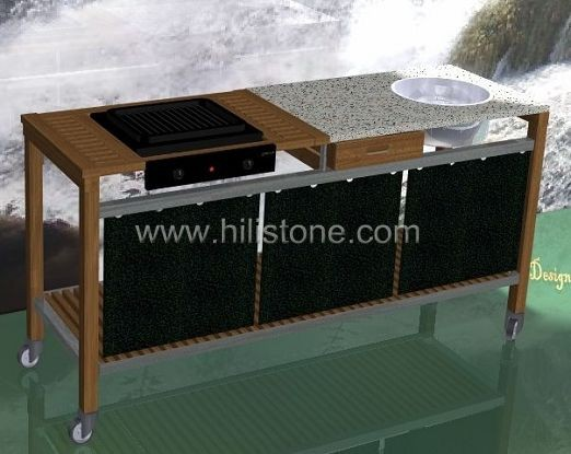 G603 Granite Polished Countertop - Flat edge