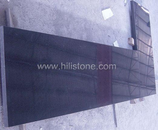 G684 Black Polished Countertop - Flat edge