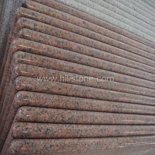 Maple Red Granite Countertop - Bullnose Edge