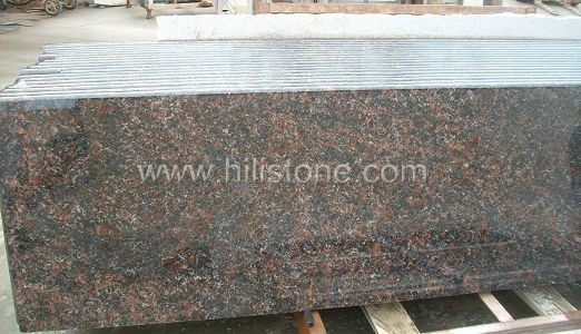 Tan Brown Granite Countertop - Bullnose Edge