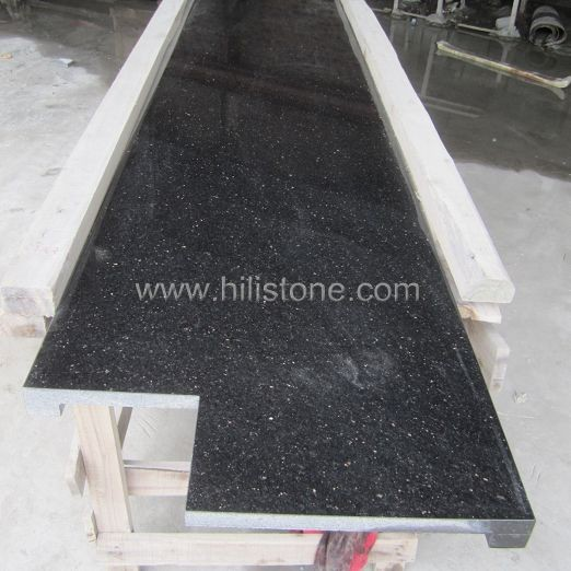 Black Galaxy Granite Kitchen: Laminated Straight Edge Manufacturers,Black Galaxy Countertop