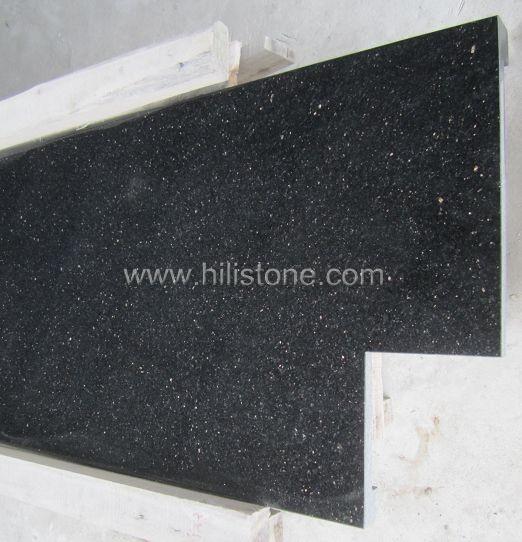 Black Galaxy Countertop - Laminated Straight Edge