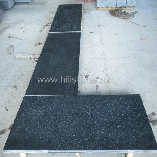 G654 Blue Black Polished Countertop - Flat Edge