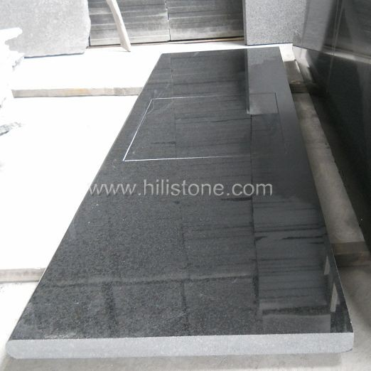 G684 Black Countertop - Laminated Bullnose