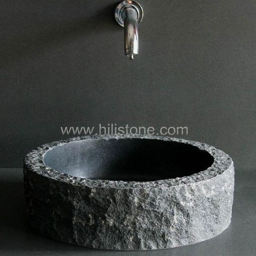 Black Granite Polished Stone Sink