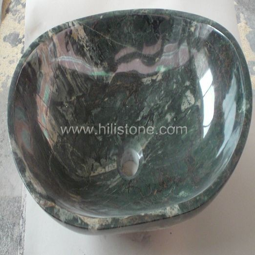 Dragon Jade Marble Polished Stone Sink