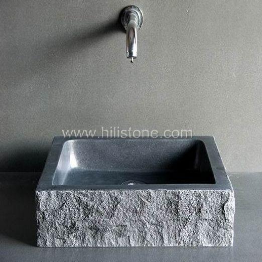 G654 Blue Black Granite Polished Stone Sink