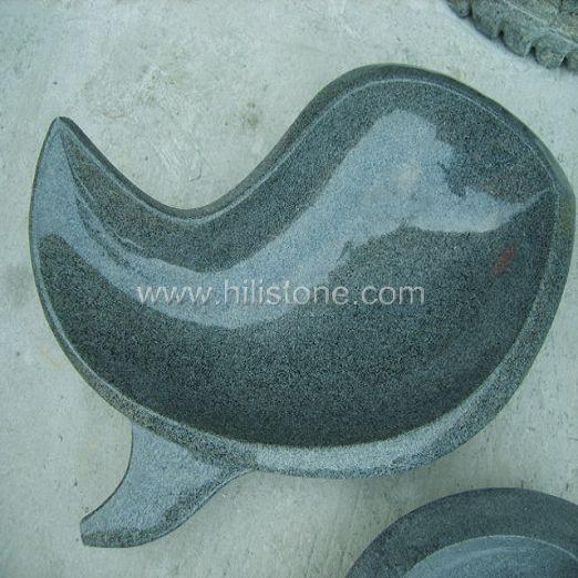 G654 Blue Black Granite Stone Sink - Fish Shape