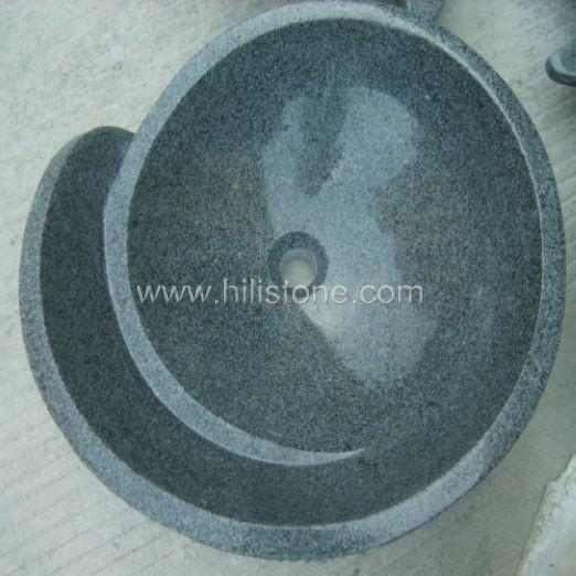 G654 Blue Black Granite Stone Sink