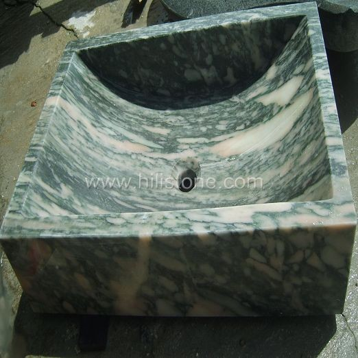 Green Marble Polished Stone Sink