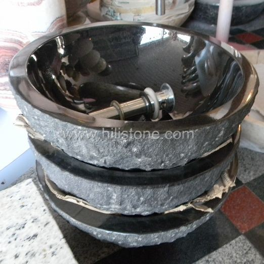 Shanxi Black Granite Polished Stone Sink