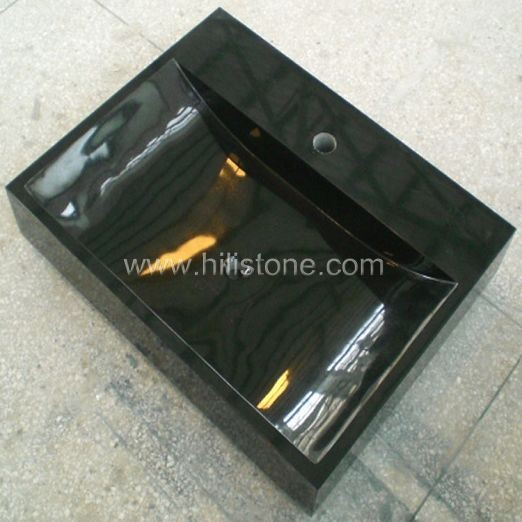 Shanxi Black Polished Stone Sink