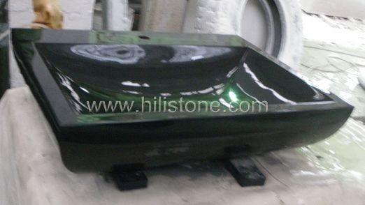 Shanxi Black Polished Stone Sink