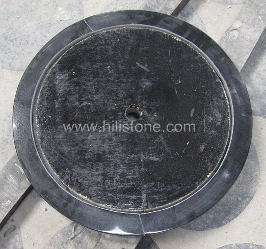 Black Granite Polished Table top - Round