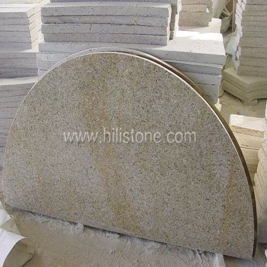 G682 Granite Polished Table top - Half Round