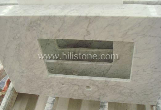 Bianco Carrara Marble Polished Vanity Top