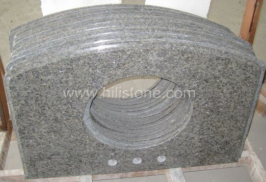 China Green Granite Vanity Top