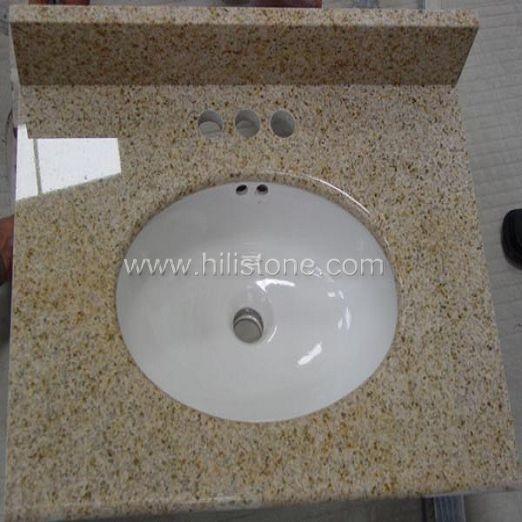 G682  Granite Vanity Top with Porcelain Sink