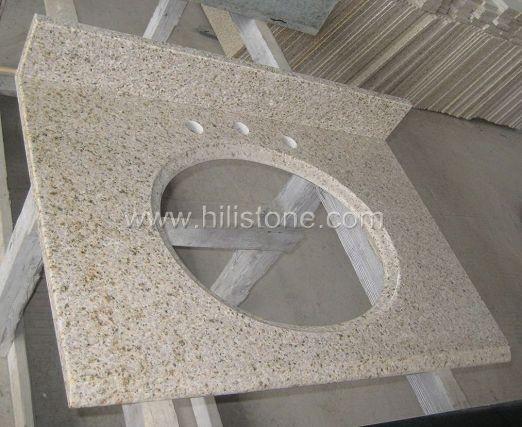 G682 Yellow Granite Polished Vanity Top