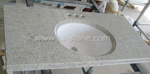 Kashmir White Vanity Top with Porcelain Sink