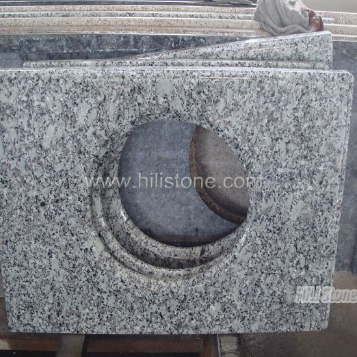 White Granite Polished Vanity Top