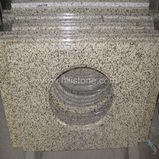 Yellow Granite Polished Vanity Top