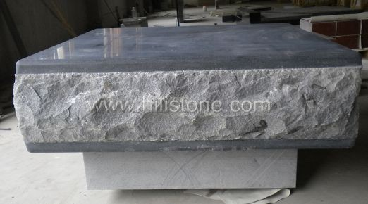 G654 Blue Black Granite Honed Stone Pouf