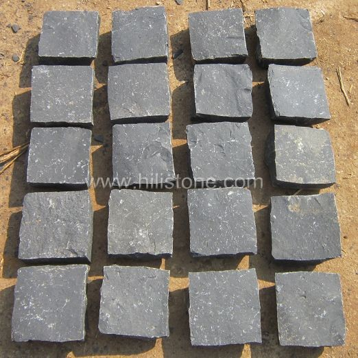 Black Basalt All Sides Natural Cobblestone