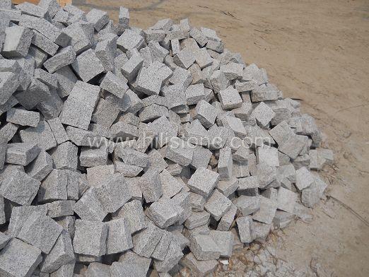 G601 Grey Granite All Sides Natural Cobblestone